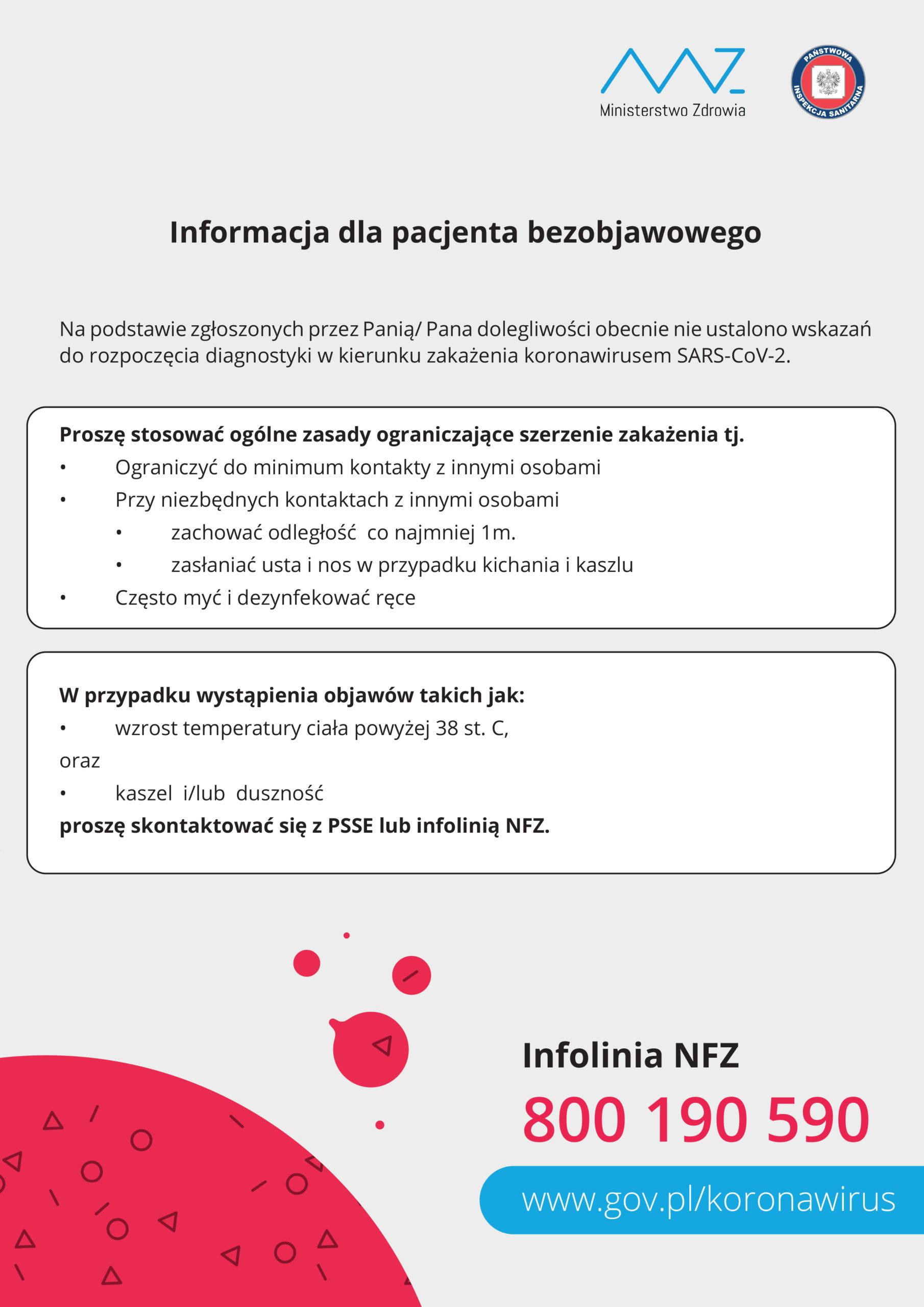 Informacje dla Pacjenta bezobjawowego